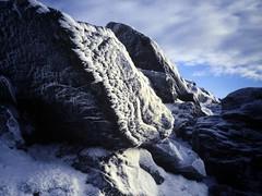 Ben Lomond Ice (the justified sinner) Tags: mountain macro film ice 35mm 1 scotland md minolta walk hill slide scan panasonic 50 35 benlomond copier munro hillwalk rokkor gh2 digitised autobellows justifiedsinner