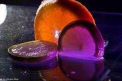 purple citrus fruits (LeChienNoir) Tags: orange macro ice fruit canon frozen juicy melting purple flash filter 2015 100mm28macro lechiennoir canon5dmark3 lechiennoirnl