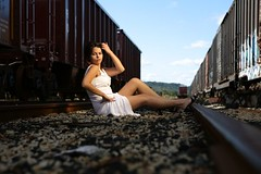 Rail Yard (John Barrie Photography) Tags: trash dress modeling urbanphotography ttd the johnbarriephotography velocityphotography
