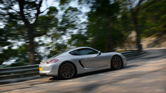 Porsche Cayman GTS in Hong Kong (Ben Molloy Automotive Photography) Tags: hk car silver photography ben automotive hong kong porsche vehicle cayman panning molloy gts