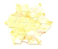 Fujimoto Tesselation Ajiro (2)  back (Pliages et vagabondages) Tags: origami tessellation décoration déco fujimoto