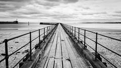 Blyth Pier Mono (Cruxto) Tags: sea blackandwhite pier structures