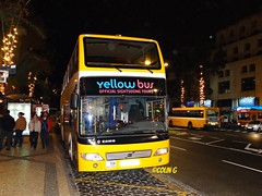 Night Lights (Coco of Jersey Bus & Coach driver) Tags: man bus portugal volvo coach camo atomic madeira funchal scania utic