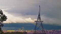 Nature v Nurture! (maginoz1) Tags: autumn sky canon landscape rainbow bush australia melbourne victoria pylons gumtree bulla redsoil g3x naturevnurture may2016 calderparkmotorpark