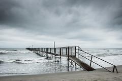 Il molo (Vanda Guazzora) Tags: rimini autunno lungomare spiaggia abbandono