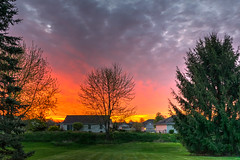 A Sunrise to Savor (tquist24) Tags: morning sky tree clouds sunrise nikon indiana hdr hww nikond5300