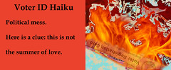 Voter ID Haiku (byzantiumbooks) Tags: haiku voterid flame werehere hereios