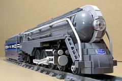 Dreyfuss_Hudson_06 (SavaTheAggie) Tags: lego steam engine locomotive hudson 464 henry dreyfuss new york central system nyc railroad train trains streamlined streamliner j3a