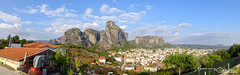 Kastraki in Panorama (jeremyvillasis) Tags: travel panorama mountain beautiful rock landscape outdoors highlands europe village panoramic unesco worldheritagesite greece meteora rockformation centralplains thessaly