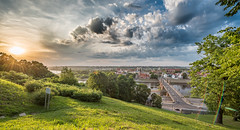 Summer Panorama | Kaunas #155/365 [Explored] (A. Aleksandraviius) Tags: sunset summer sky people panorama green clouds river evening nikon explore 365 nikkor hdr lithuania sunflare kaunas lietuva 2016 project365 365days explored 1424 d810 155365 nikond810 1424mm kaunasoldtown aleksotopanorama 3652016