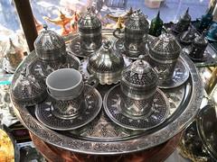 coffee set - silver (ShopTurkey) Tags: turkey shopping turkish grandbazaar teasets mosaicglass coffeesets turkishtile