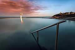 La piscine ... (Ludovic Lagadec) Tags: longexposure sunset sea sky mer seascape beach colors landscape brittany marin dream bretagne breizh paysage plage manche piscine swimingpool mare poselongue stquayportrieux nd1000 bretagnenord bw110 ludoviclagadec llagadeclandscapephotography