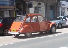 Citroen 2CV (occama) Tags: old uk orange classic car french cornwall citroen snail 2cv 1981 1980 ehw914w