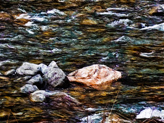 All Rocks Roll (Steve Taylor (Photography)) Tags: newzealand art water rock stone digital river stream nz southisland ripples southernalps