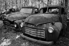 Old Fashioned (Todd Evans) Tags: auto blackandwhite bw ford car truck nikon automobile gmc oldcarcity d7100 sigma18250