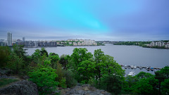 Kungsholmen & Tranebergsbron (redfurwolf) Tags: longexposure bridge trees water skyline clouds europe sweden stockholm sthlm solna kungsholmen tranebergsbron redfurwolf