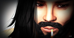 Bedroom Eyes (erikmofanui) Tags: portrait colors eyes secondlife sexyman secondlifeportrait