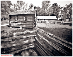 The school House on McDonalds lane (DelioTO) Tags: ontario canada architecture rural blackwhite spring may trails pinhole historical 4x5 toned islandlake natparks adoxchs100 autaut f175 aph09