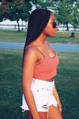 (cassandra.frater) Tags: park bridge trees summer portrait toronto girl fashion fun pretty young lakeshore lakeontario blackout blackgirl goldenhour melanin ootd