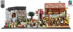 Ainsford 'Red Elm' Market - Overview (Ayrlego) Tags: lego market lor roawia lenfald ainesford