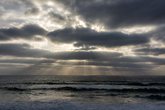 'End of Day' (Canadapt) Tags: ocean sunset portugal clouds surf waves godsrays canadapt