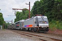 NJTR 4655 @ Far Hills, NJ (Adrian Corus) Tags: new train branch nj rail line hills transit jersey alp far gladstone njt 6410 4655 alp46 njtr alp46a