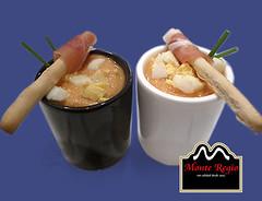 Mini vasitos de salmorejo con jamn ibrico Monte Regio (Monte Regio) Tags: ham monte jamn regio ibrico
