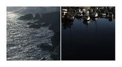 Diptych, Dolan Life (DEWEGGIS) Tags: ocean blue sea reflection port boats diptych brittany tide atlantic bleu miror purity cornouaille doelan finistresud ctedespeintres