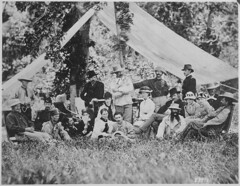 Hunting and camping party of Custer (standing in center) and invited guests. Fort A. Lincoln on the Little Heart River, Dak. Terr., 1875 [3000 × 2325] #HistoryPorn #history #retro http://ift.tt/1UVxrg9 (Histolines) Tags: camping party history guests standing river heart little fort hunting center retro lincoln timeline 3000 custer dak invited 1875 terr × 2325 vinatage a historyporn histolines httpifttt1uvxrg9