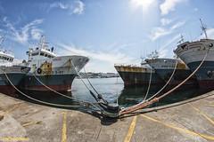 Amarre (explore) (sairacaz) Tags: blue sea summer sky azul puerto mar ship barcos cielo verano noray amarre