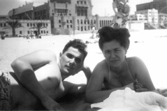 A bathhouse by the beach. (jericl cat) Tags: gay shirtless man male history beach vintage photo clothing chest clothes photograph bathing swimsuit interest bathhouse wore attire
