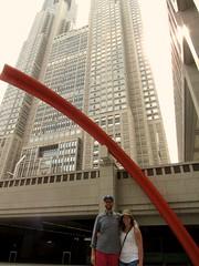 Us In Front Of Metro Building (ahobbins) Tags: japan tokyo shinjuku metropolitanbuilding