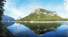 Upper Kananaskis Lake, Alberta, Canada - ICE(1)5521-85 (photos by Bob V) Tags: panorama mountains reflection rockies alberta albertacanada kananaskiscountry canadianrockies upperkananaskislake reflectiononwater kananaskislake mountainpanorama