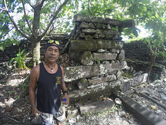 My guide showing me around Nan Madol.
