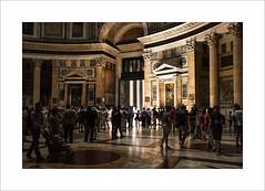 Rome....surprise (Zino2009 (bob van den berg)) Tags: light people italy holiday rome roma reflection church silhouette circle square high floor ceiling explore surprise marble rom bobvandenberg zino2009 pantreon