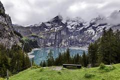 Oeschinensee (rianklong) Tags: blue mountain lake snow forest switzerland highlands kandersteg bern berneroberland berneseoberland sz canonef1635mmf28liiusm canoneos5dmarkii canon5dmarkii bernesehighlands