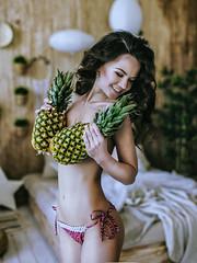 Pineapple Fresh (LikClick Photography) Tags: pineapple girl beautiful tropic