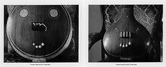 Tambura-s (JJ_REY) Tags: france fuji colmar alsace musicinstrument hindustani carnatic rodenstock instantfilm peelapart 45a fp3000b tanpura southindianmusic toyofield tamburas polaroidback405 northindianmusic rotelar270mmf56