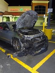 (C. Neil Scott) Tags: westcolumbiasc southcarolina bilo bakery parkinglot car burnedcar fire melted hot yellow