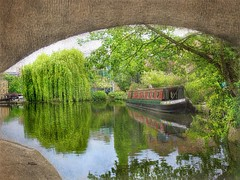 On the Regents Canal, London (Solly Avenue) Tags: travel light painterly london photomanipulation river landscape impressionism waterscape digitalphotoart ipadpainting ipadsketching painterlyapp