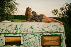 Canopy (fehlfarben_bine) Tags: caravan field summer brandenburg woman portrait sundown nikond800 240700mmf28 roof