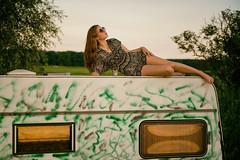 Canopy (fehlfarben_bine) Tags: caravan field summer brandenburg woman portrait sundown nikond800 240700mmf28 roof