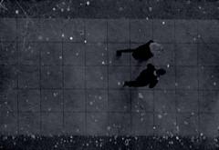 walkers (dotintime) Tags: walk rush hurry below above sidewalk pavement gloaming dusk dark night evening pair due duet couple city urban movement dotintime meganlane