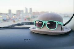 Travel (sydneykmking) Tags: travel light sun love hat sunglasses dark bowler selfphoto raybans longday amature