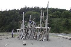 Massive Driftwood Fort (Heath & the B.L.T. boys) Tags: driftwood fort friends beach diy