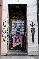 E9thSt (29) (ShellyS) Tags: nyc newyorkcity manhattan eastvillage buildings doors graffiti