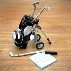 Novel Mini Golf Cart Pen Set - DX (DX_fans) Tags: set pen golf mini novel cart golfcart dx homegarden stationeries dealextreme minigolfcart dxcom novelminigolfcartpenset pensholders