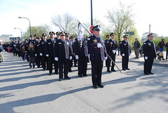 9th District, Preparing to March (artistmac) Tags: morning blue sabrina chicago breakfast joseph drive illinois al king martin police tony il pizza solidarity commander gorman soldierfield connies chicagopolice mejia garza may5 wools 2013 9thdistrict loughney stjudesmarch