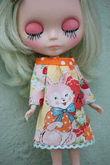 Sweet bunny smock dress
