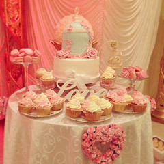 VIntage Shabby Chic Wedding Dessert Table